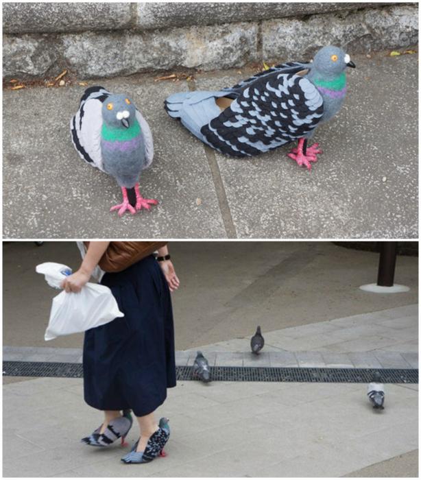 Туфли в виде голубей от Кейко Оцухата.