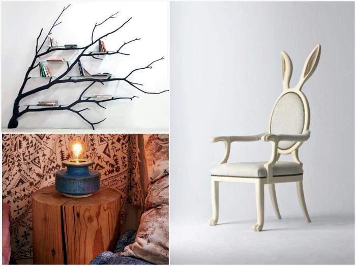 Оригинальные предметы мебели.