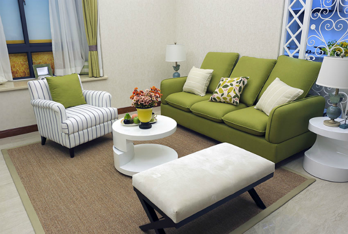 Sala de estar en estilo clásico.