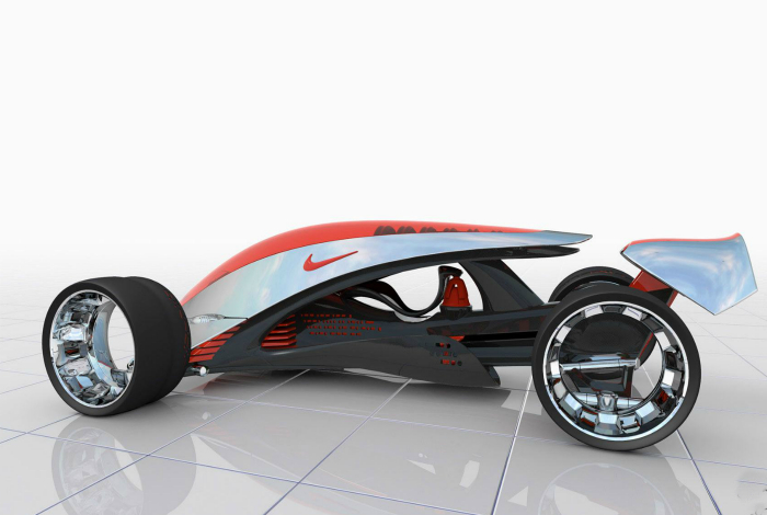 Автомобиль будущего от компании Nike.