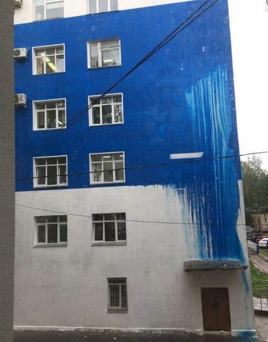 Креативная покраска фасада.