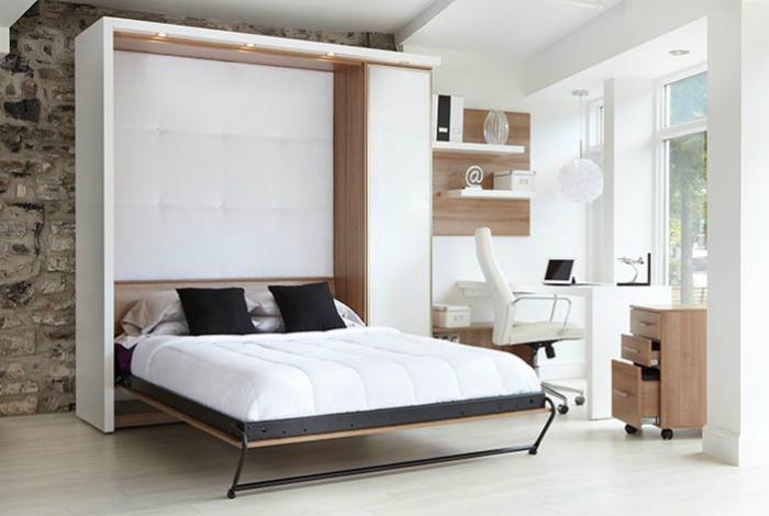 Большая кровать трансформер в современном стиле.