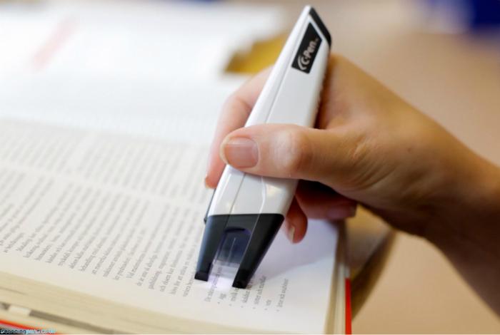 Ручка-сканер, которая распознает текст и переводит его в любой текстовый редактор.