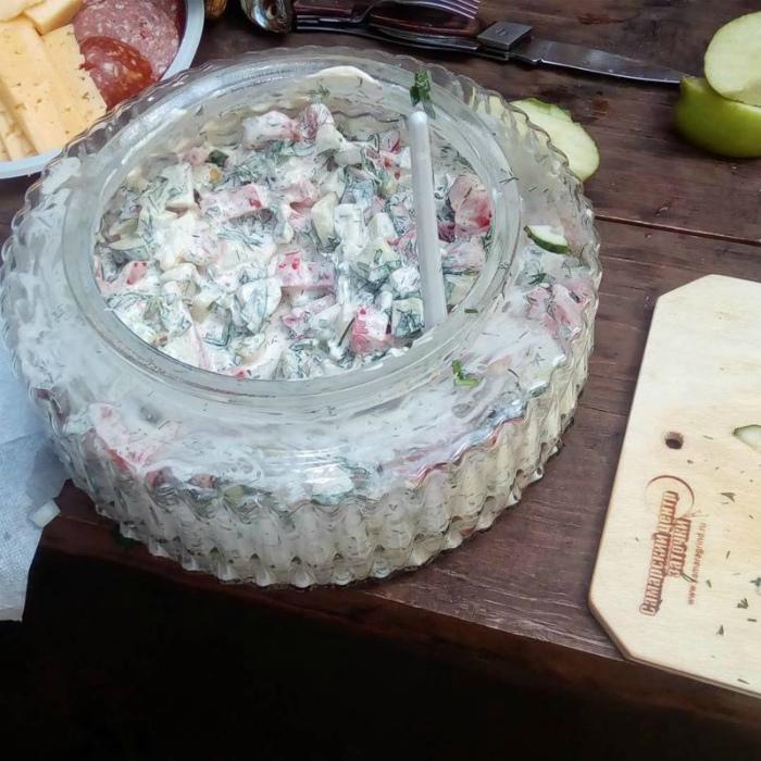 Праздничная салатница.