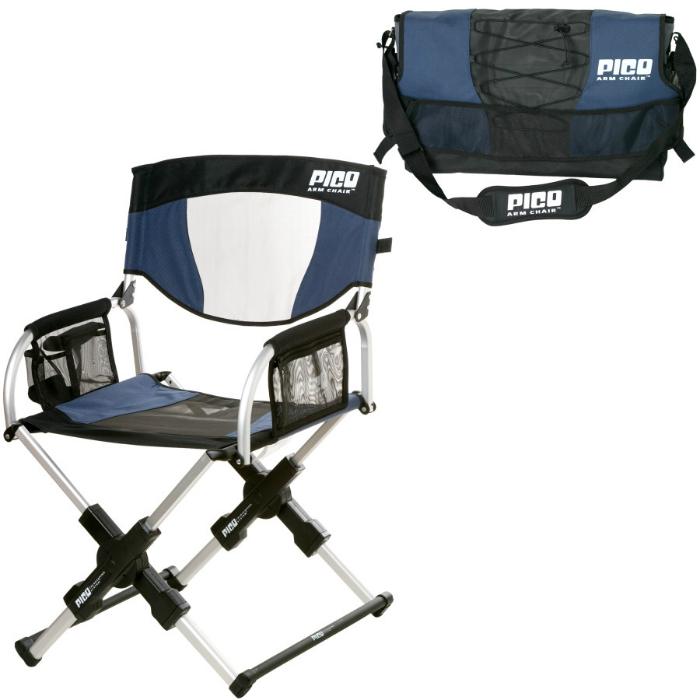 Эта спортивная сумка без труда превращается в раскладной походный стул.