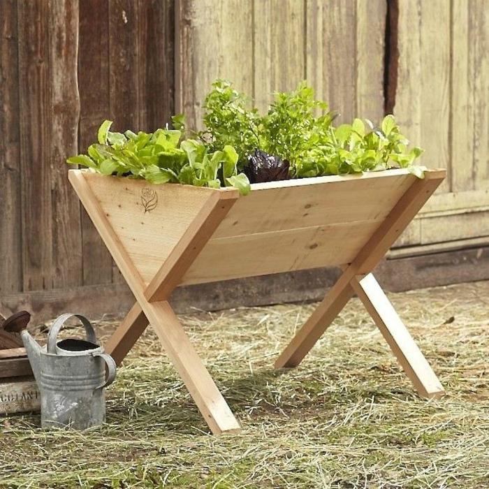 Небольшой деревянный контейнер для выращивания. | Фото: Pinterest.