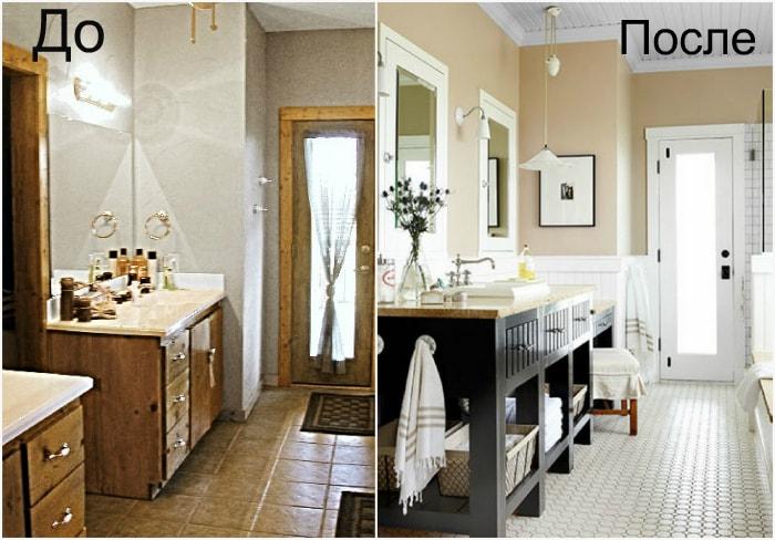 Косметический ремонт ванной.