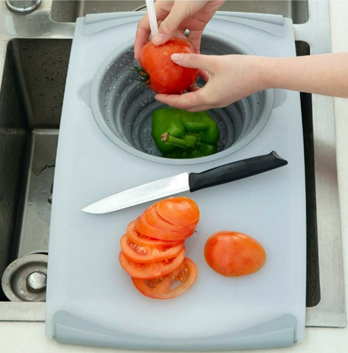 Разделочная доска с миской. | Фото: Sympa-sympa.com.