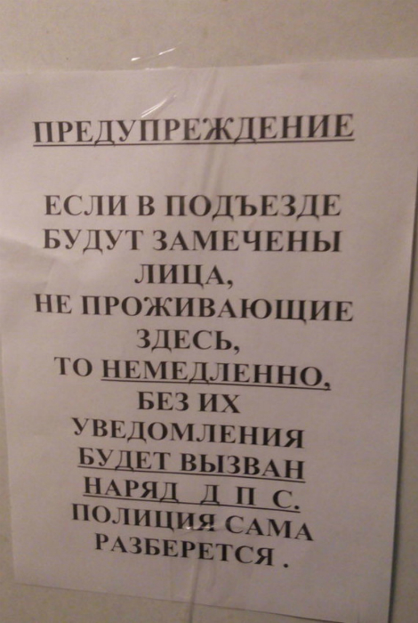 ДПС против незваных гостей.