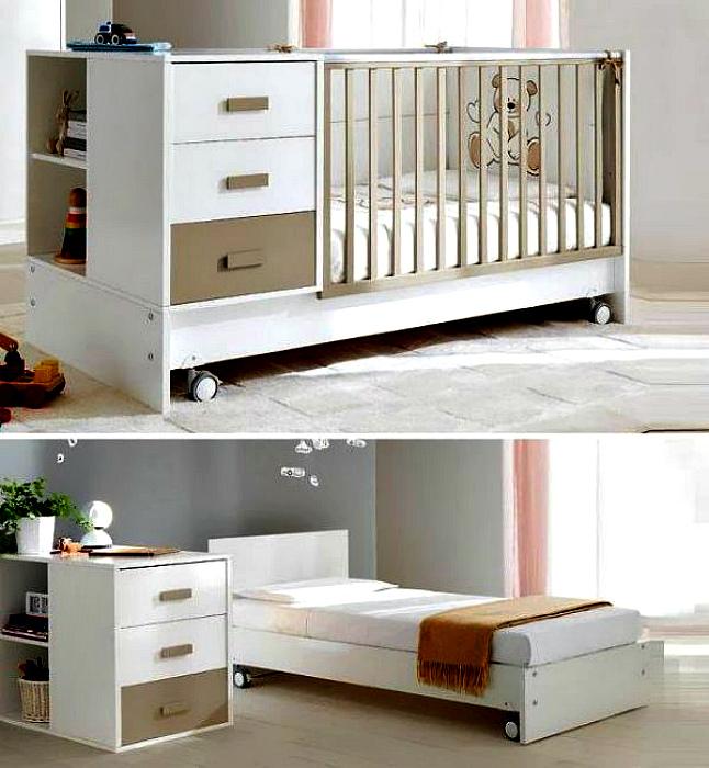 Комплект детской трансформирующейся мебели. | Фото: Pinterest – Пинтерест.
