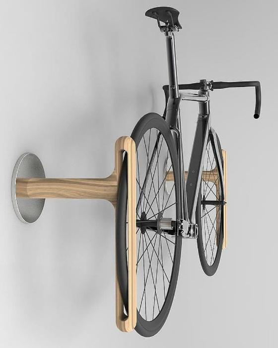 Деревянное крепление для велосипеда. | Фото: Picdeer.