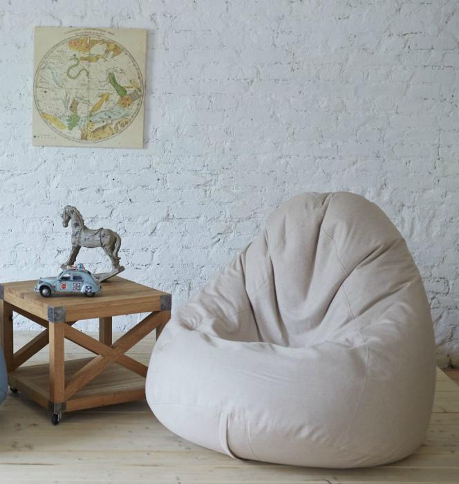 Кресло-мешок в интерьере. | Фото: Womans.ws.
