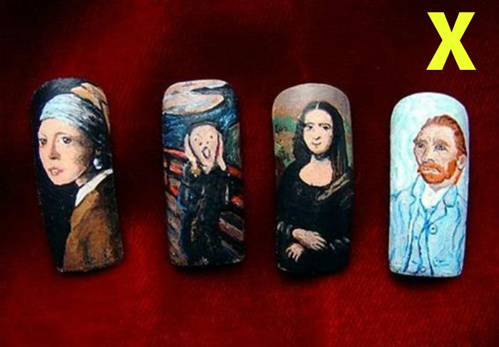 Картины на ногтях - антитренд.