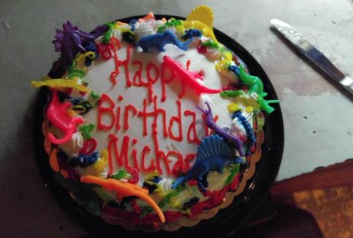 Тортик от родителей.