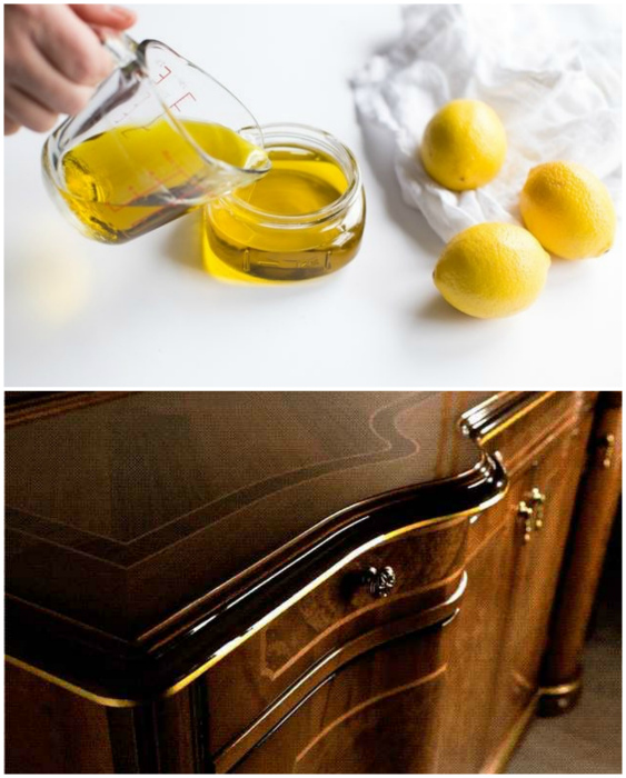 Натуральный полироль для деревянной мебели. | Фото: Rubankom.com, FurnishHome.ru.