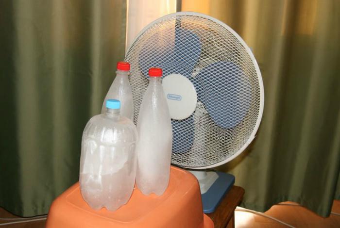 Превращение вентилятора в кондиционер. | Фото: KakProsto.ru.