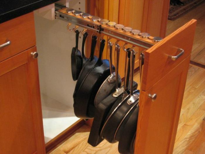 корзина выдвижная для сковородок