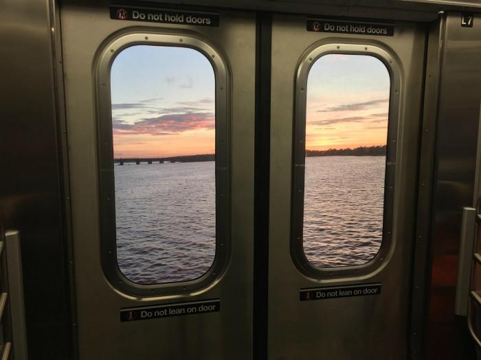 Неожиданный вид из вагона метро. | Фото: Reddit.