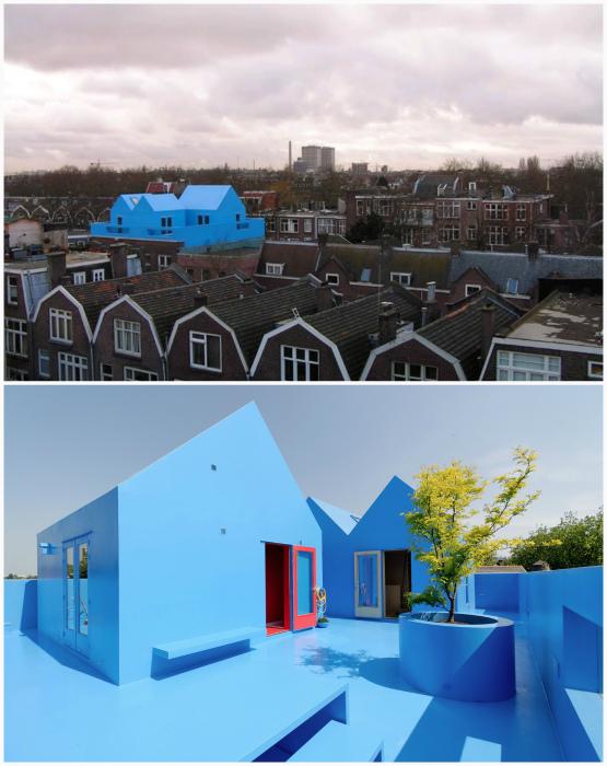 Голубой дом в Роттердаме.