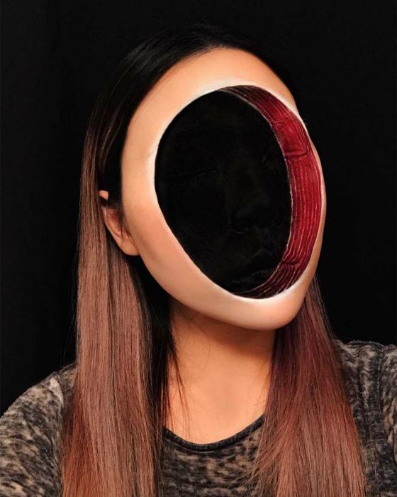 Экспериментальный макияж.
