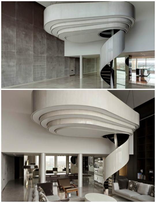 Спиральная лестница в стиле модерн.