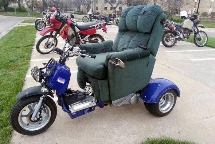 Комфортное сиденье.