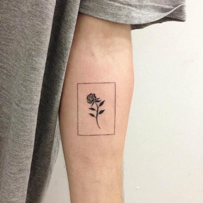 Роза в рамке.