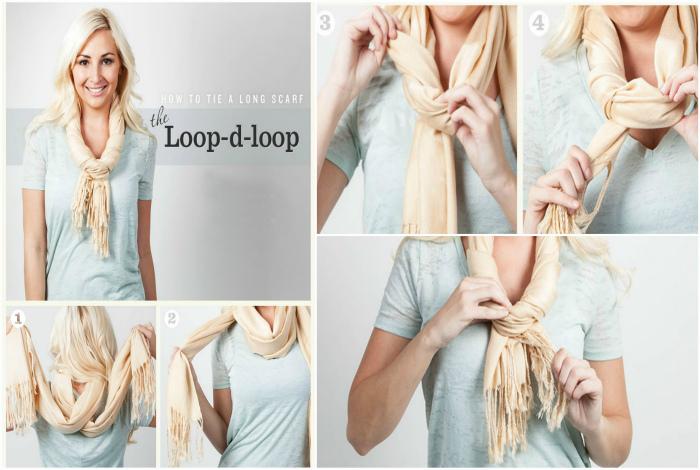 Ожерелье-жгут из легкого шарфа.