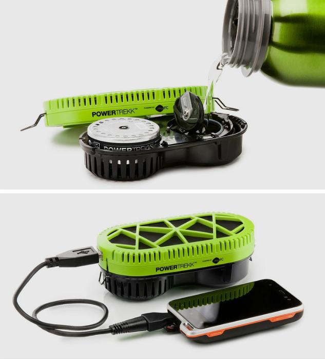Зарядное устройство, работающее от воды.