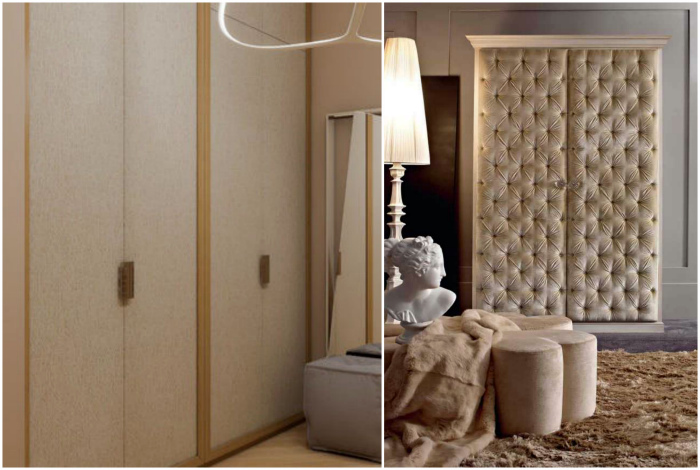 Шкафы с оригинальными дверями. | Фото: Фасадные панели вентилируемые, yapokupayu.ru.