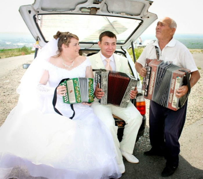 Шведская семья аккордеонистов.