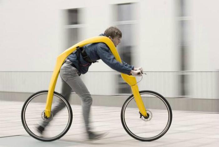 Велосипед без педалей.