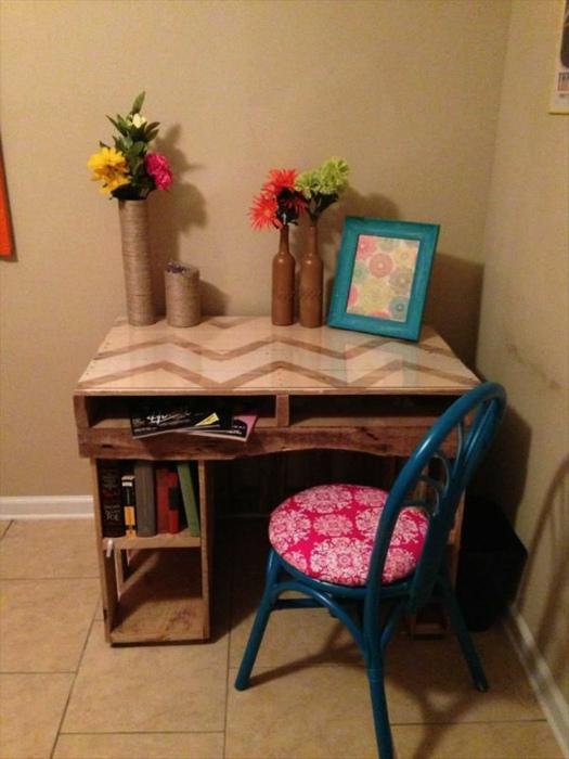 Небольшой рабочий стол.