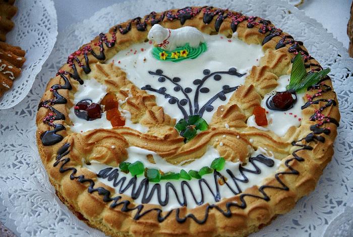 Традиционный пасхальный пирог.