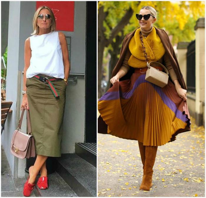 Найдите свою юбку миди. | Фото: style-info.guru, Все женские секреты.