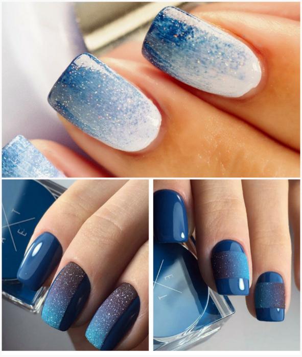 Синие градиенты.