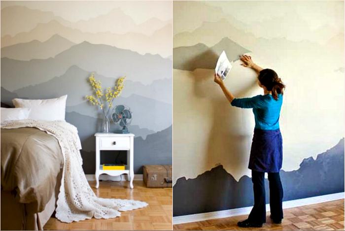 Необычная покраска стен.