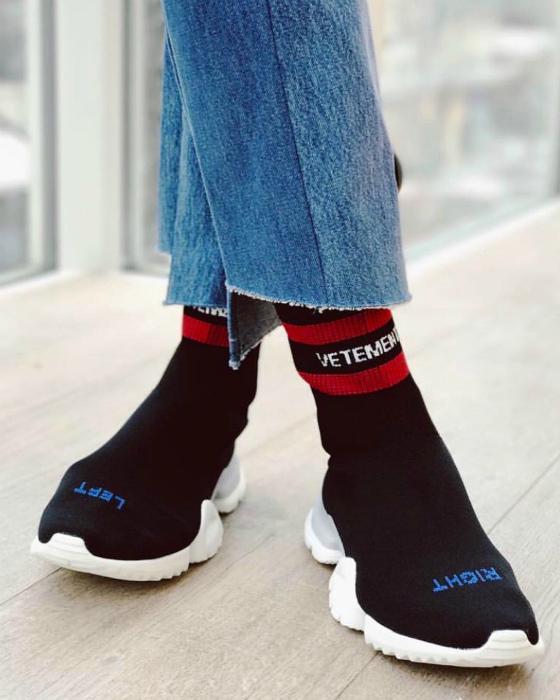 Носки с подошвой.