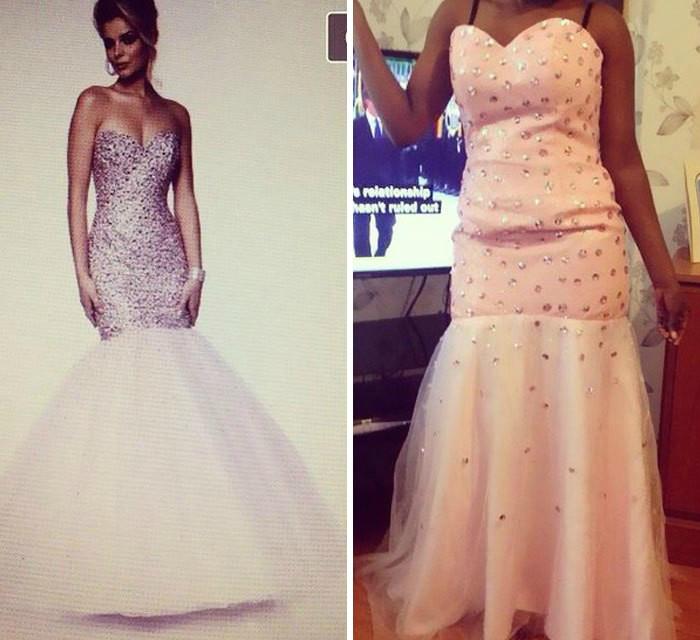 Платье, усыпанное блестками.
