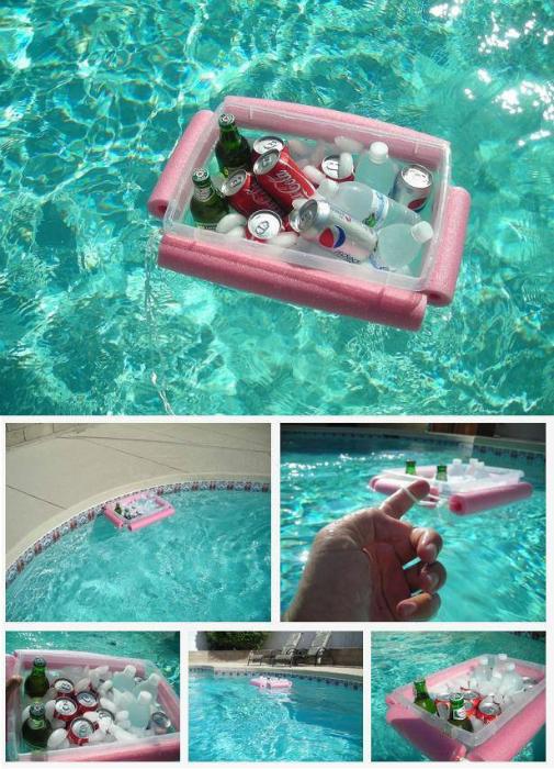 Плавающий кулер-охладитель для напитков.