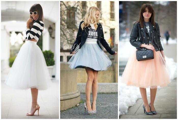 Модные юбки-пачки.