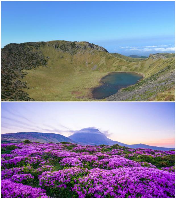 Потухший вулкан на острове Чеджу.