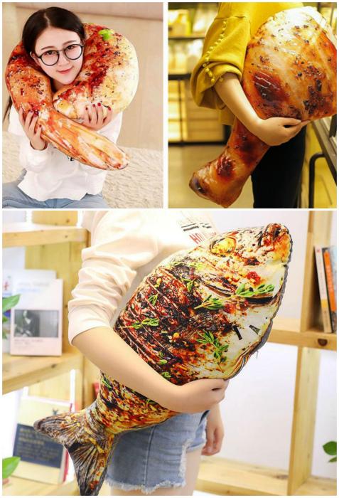 Подушки в виде еды. | Фото: Batona.net, www.taobao.com.