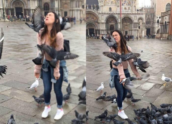 Когда хочется красивое фото с голубями.   Фото: Bastante Interessante.