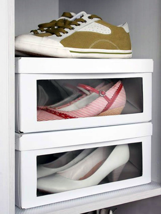 Коробки с прозрачными стенками. | Фото: Pinterest.