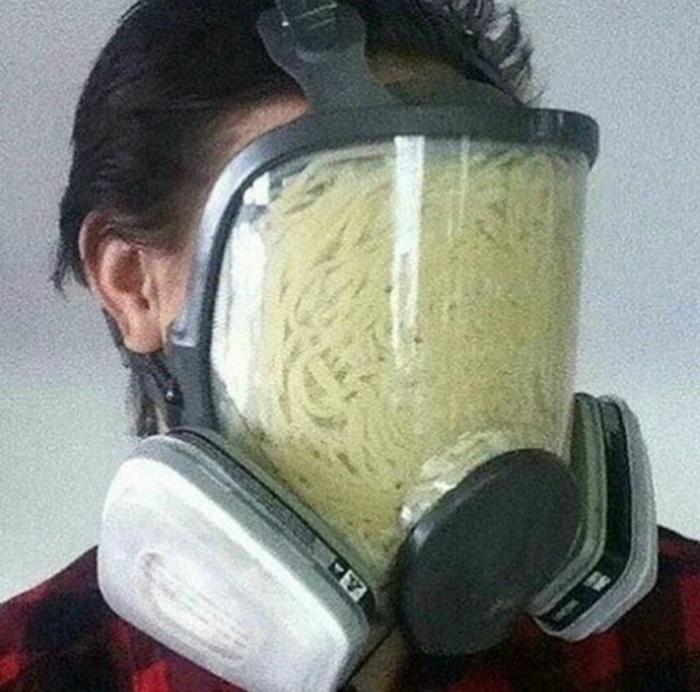Странная маска.