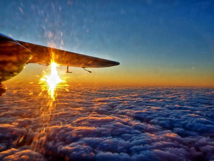 Последние блики солнца перед закатом. Фотограф: Неил Говард.