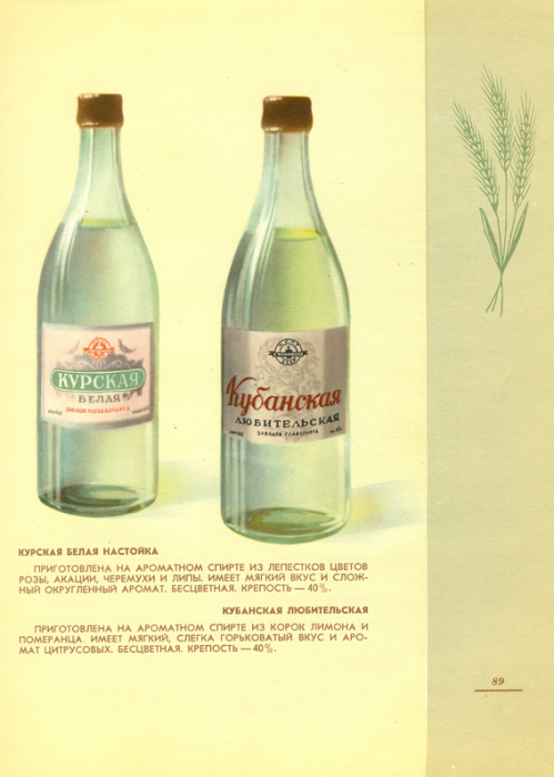 Оба напитка приготовлены на ароматном спирте. В «Курскую настойку» добавляли лепестки цветов, а в «Любительскую» - корки цитрусовых.