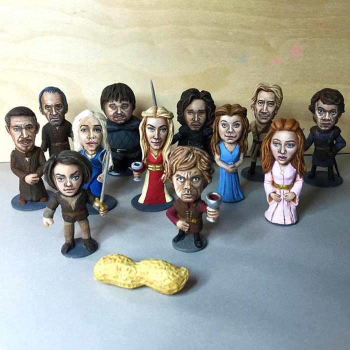 Фигурки любимых персонажей «Игра престолов».