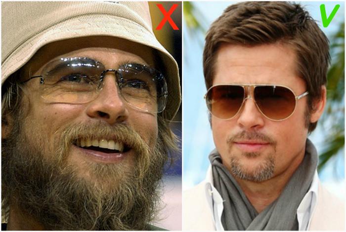 Неухоженная борода у мужчин.